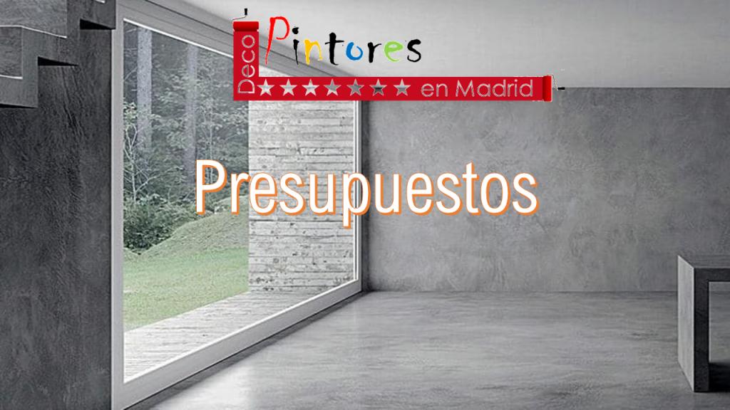 Presupuestos pintores en Madrid